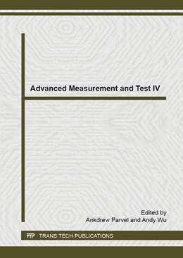 Abbildung von Parvel / Wu | Advanced Measurement and Test IV | 1. Auflage | 2015 | Volume 1083 | beck-shop.de