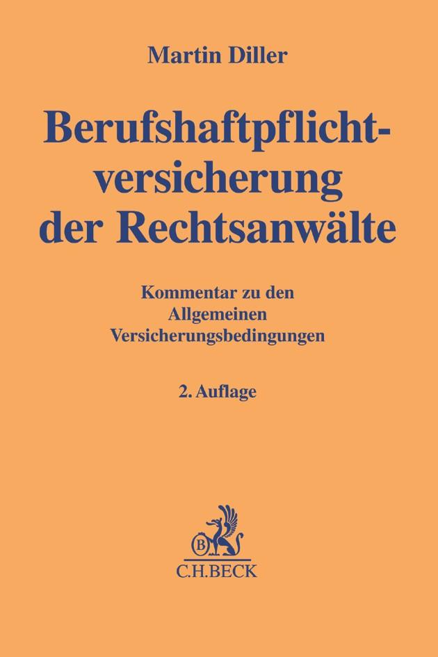 Berufshaftpflichtversicherung der Rechtsanwälte | Diller | Buch (Cover)