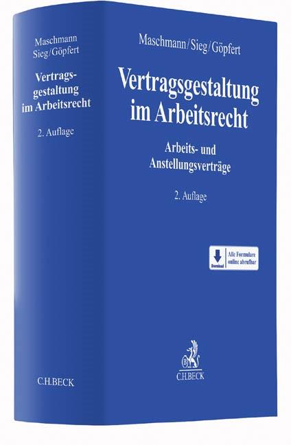 Vertragsgestaltung im Arbeitsrecht | Maschmann / Sieg / Göpfert | 2. Auflage, 2016 | Buch (Cover)