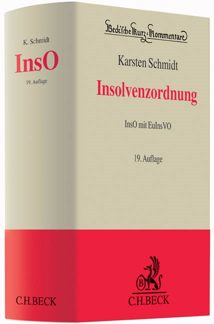 Insolvenzordnung: InsO | Schmidt | 19. Auflage, 2015 | Buch (Cover)