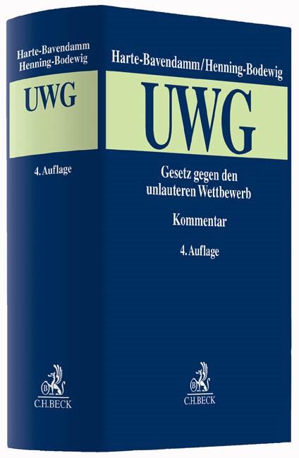 Gesetz gegen den unlauteren Wettbewerb (UWG) | Harte-Bavendamm / Henning-Bodewig | 4. Auflage, 2016 | Buch (Cover)