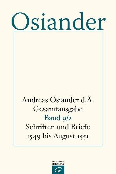 Schriften und Briefe 1549 bis August 1551   Müller / Seebaß, 1994   Buch (Cover)
