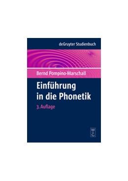 Abbildung von Pompino-Marschall | Einführung in die Phonetik | 3. Auflage | 2009 | beck-shop.de