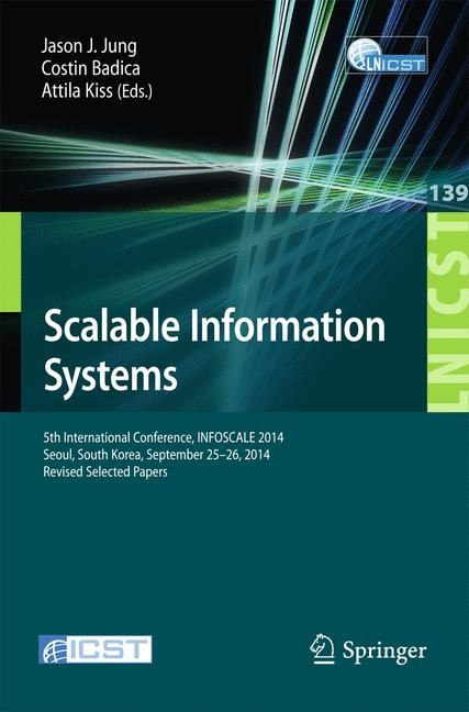 Scalable Information Systems | Jung / Badica / Kiss | 2015, 2015 | Buch (Cover)