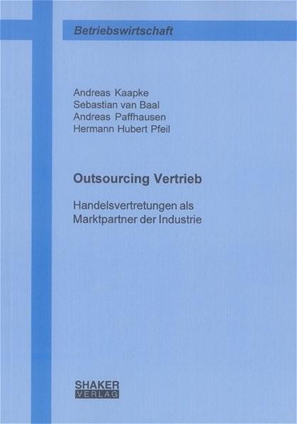 Handelsvertretungen als Marktpartner der Industrie | Kaapke / Baal / Paffhausen, 2004 | Buch (Cover)