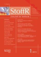 Zeitschrift für Stoffrecht - StoffR | 15. Jahrgang, 2015 (Cover)