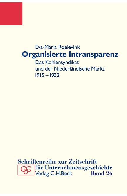 Cover: Eva-Maria Roelevink, Organisierte Intransparenz