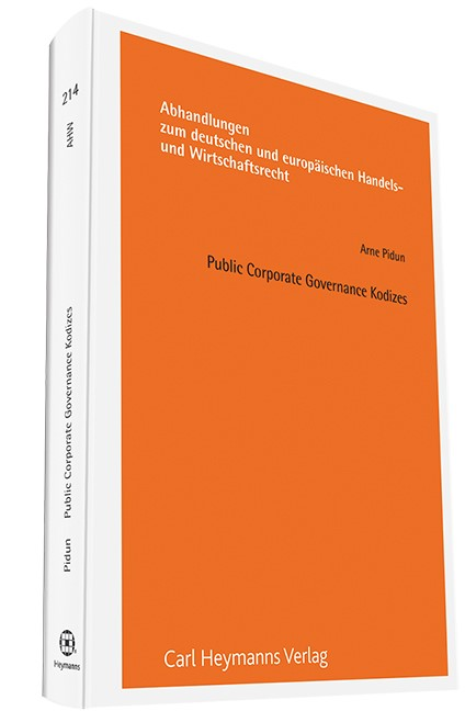 Public Corporate Governance Kodizes | Pidun, 2015 | Buch (Cover)