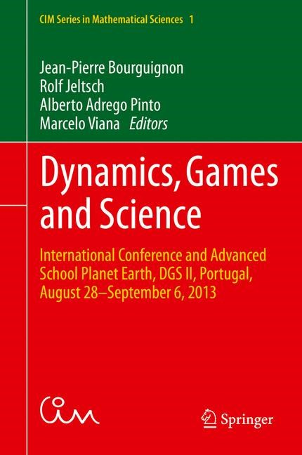 Dynamics, Games and Science | Bourguignon / Jeltsch / Pinto / Viana | 1st ed. 2015, 2015 | Buch (Cover)
