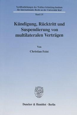 Abbildung von Feist   Kündigung, Rücktritt und Suspendierung von multilateralen Verträgen.   2001   135