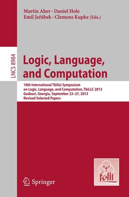 Abbildung von Aher / Hole | Logic, Language, and Computation | 1. Auflage | 2015 | beck-shop.de