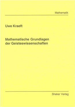 Abbildung von Kraeft   Mathematische Grundlagen der Geisteswissenschaften   2008