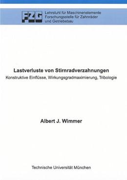 Abbildung von Wimmer | Lastverluste von Stirnradverzahnungen | 1. Auflage | 2006 | beck-shop.de