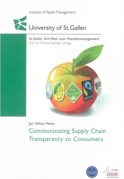 Abbildung von Meise | Communicating Supply Chain Transparency to Consumers | 2011