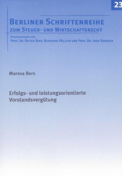 Erfolgs- und leistungsorientierte Vorstandsvergütung | Bors | 1., Aufl, 2006 | Buch (Cover)