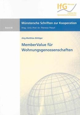 Abbildung von Böttiger | MemberValue für Wohnungsgenossenschaften | 2009 | Ein Ansatz zur Operationalisie...