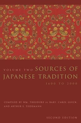 Abbildung von Bary / Gluck / Tiedemann | Sources of Japanese Tradition | 2005 | 1600 to 2000