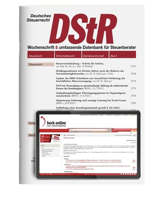 Abbildung von DStR • Deutsches Steuerrecht | 57. Jahrgang | 2019