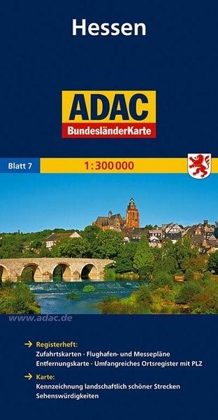 ADAC BundesländerKarte Deutschland 07. Hessen 1 : 300 000 | 3. Auflage, 2015 (Cover)