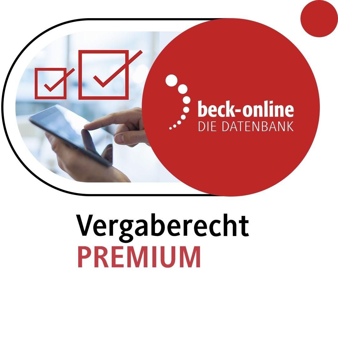 beck-online. Vergaberecht PREMIUM, 2015 (Cover)