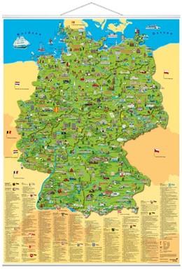 Abbildung von Schönhoff / Krüger | Illustrierte Deutschlandkarte | 2014 | Erlebniskarte mit Metall-Belei...