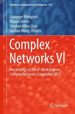 Abbildung von Mangioni / Simini / Wang / Uzzo | Complex Networks VI | 2015 | 2015 | Proceedings of the 6th Worksho... | 597