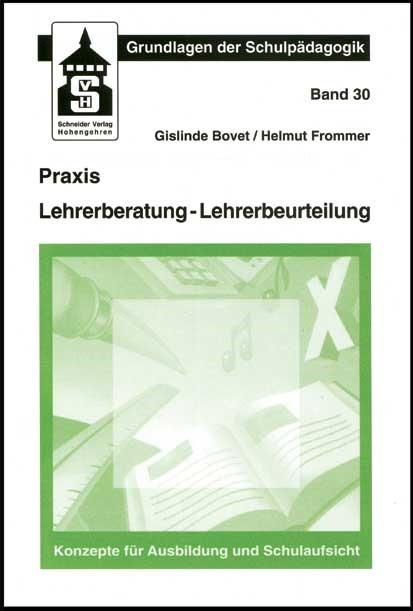 Praxis Lehrerberatung - Lehrerbeurteilung | Bovet / Frommer, 2015 (Cover)
