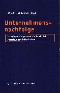 Unternehmensnachfolge   Kalss / Schauer, 2001   Buch (Cover)