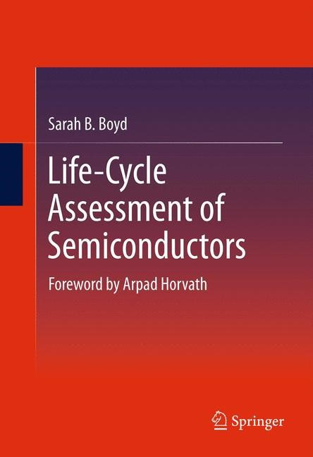 Life-Cycle Assessment of Semiconductors | Boyd | 2012, 2014 | Buch (Cover)