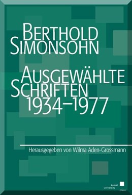 Abbildung von Aden-Grossmann | Berthold Simonsohn | 2012 | Ausgewählte Schriften 1934-197...