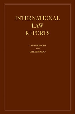 Abbildung von Lauterpacht / Greenwood | International Law Reports: Volume 125 | 2004