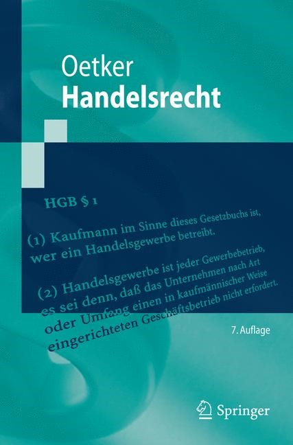 Handelsrecht | Oetker | 7. Auflage, 2015 | Buch (Cover)