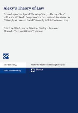 Abbildung von de Oliveira / Paulson   Alexy's Theory of Law   1. Auflage   2015   144   beck-shop.de