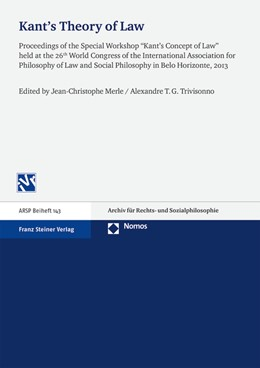 Abbildung von Merle / Travessoni Gomes Trivisonno | Kant's Theory of Law | 2015 | Proceedings of the Special Wor... | 143