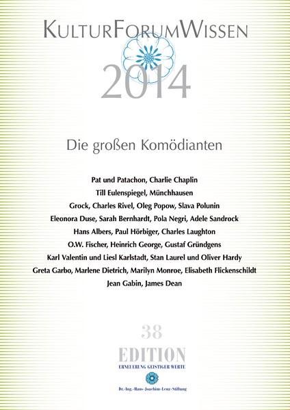 Abbildung von Dr. -Ing. -Hans-Joachim-Lenz-Stiftung | KulturForumWissen 2014 | 2015
