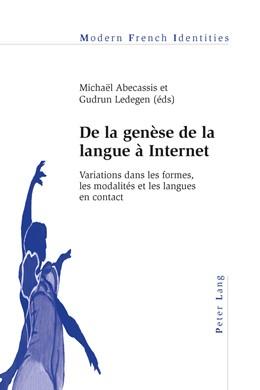 Abbildung von Abecassis / Ledegen | De la genèse de la langue à Internet | 2015 | Variations dans les formes, le... | 118