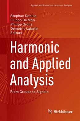 Abbildung von Dahlke / De Mari   Harmonic and Applied Analysis   1. Auflage   2015   beck-shop.de