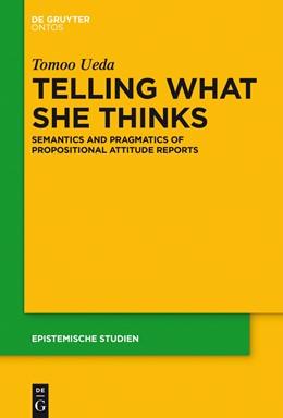 Abbildung von Ueda | Telling What She Thinks | 2015 | Semantics and pragmatics of pr... | 33