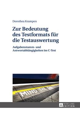 Abbildung von Krampen | Zur Bedeutung des Testformats für die Testauswertung | 2015 | Aufgabenstamm- und Antwortabhä...