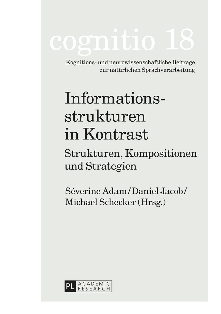 Informationsstrukturen in Kontrast | Adam / Jacob / Schecker, 2015 | Buch (Cover)