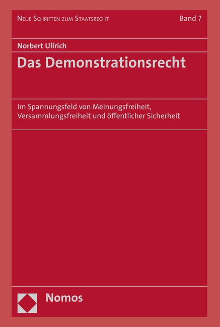 Das Demonstrationsrecht | Ullrich, 2019 | Buch (Cover)