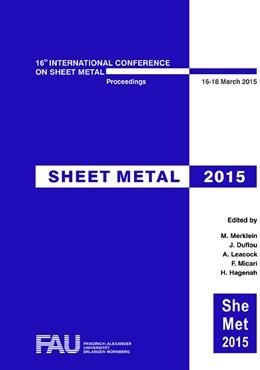 Abbildung von Merklein / Duflou / Leacock / Micari / Hagenah   Sheet Metal 2015   2015   Selected, peer reviewed papers...   Volume 639