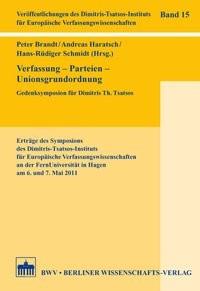 Verfassung – Parteien – Unionsgrundordnung | Brandt / Haratsch / Schmidt, 2015 | Buch (Cover)