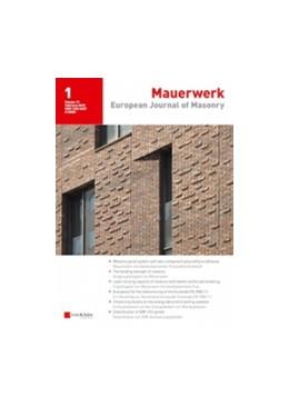 Abbildung von Mauerwerk | 24. Jahrgang | 2020 | European Journal of Masonry