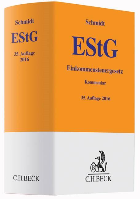 Einkommensteuergesetz: EStG   Schmidt   Buch (Cover)