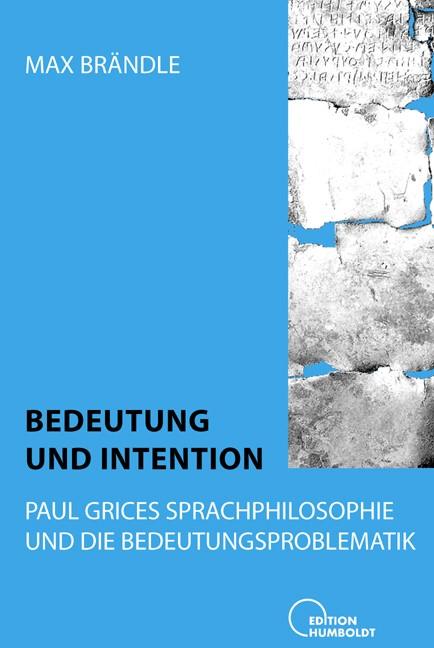 Bedeutung und Intention | Brändle, 2006 | Buch (Cover)