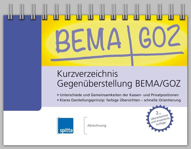 Kurzverzeichnis Gegenüberstellung BEMA/GOZ   Brandt   2. erweiterte und überarbeitete Auflage, 2015   Buch (Cover)