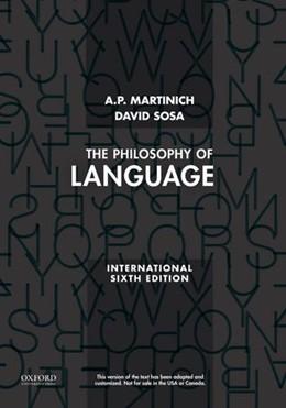Abbildung von Martinich / Sosa | The Philosophy of Language | 2013