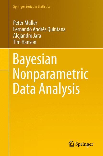 Bayesian Nonparametric Data Analysis | Müller / Quintana / Jara | 2015, 2015 | Buch (Cover)