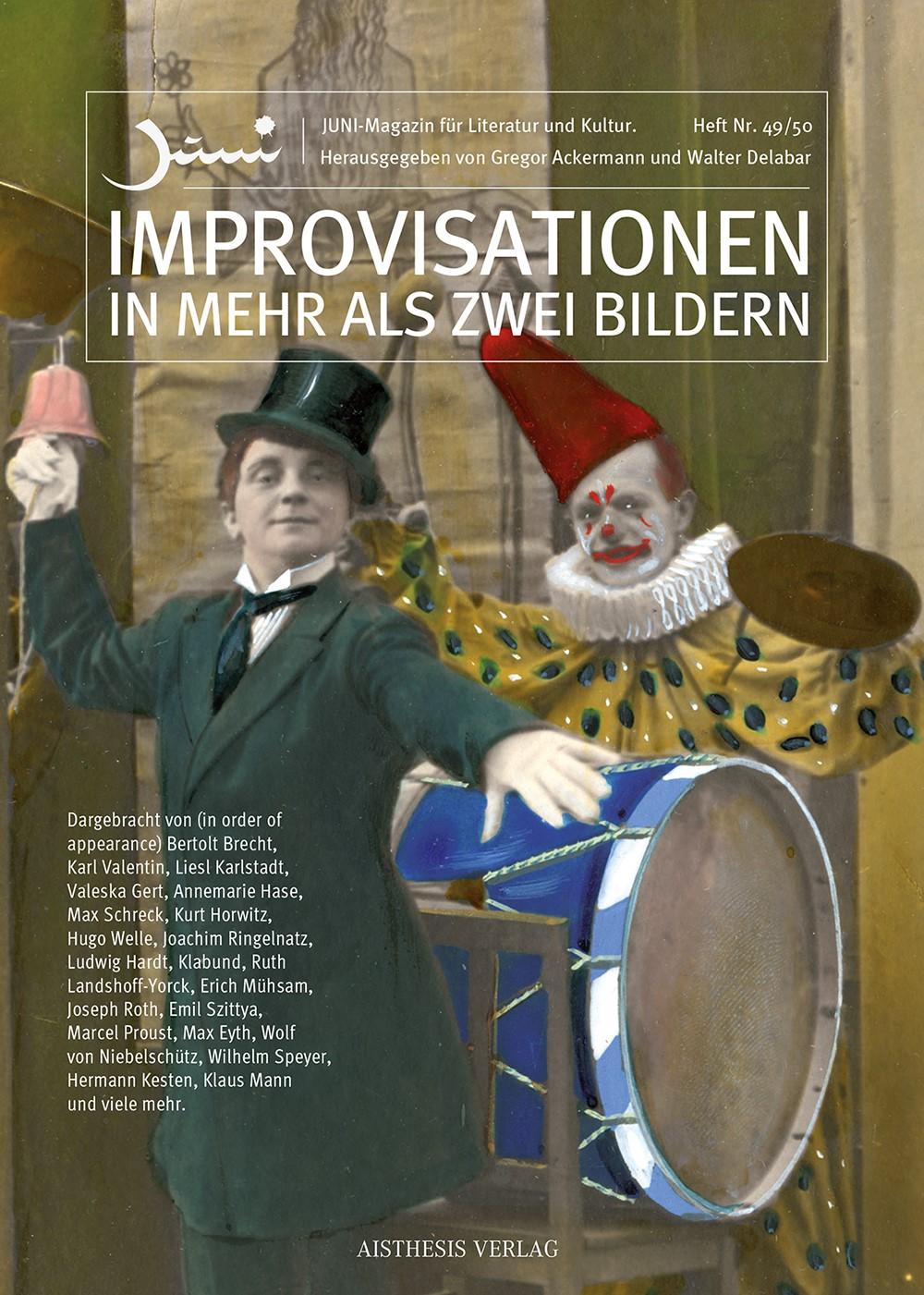 Improvisationen in mehr als zwei Bildern | Ackermann / Delabar, 2015 | Buch (Cover)